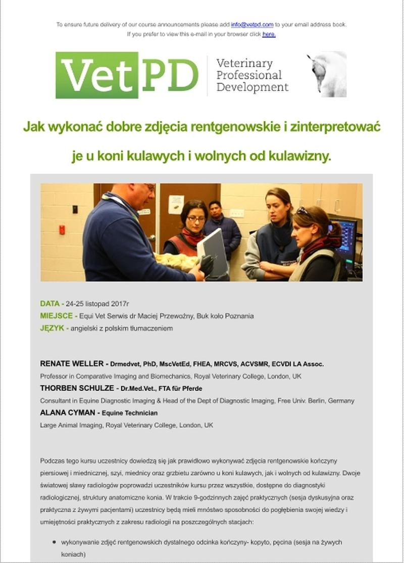 Program listopadowego szkolenia VetPD